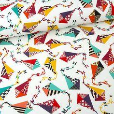 Bawełna 100% kolorowe LATAWCE - mcolors - Tkaniny wzorzyste