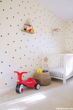 unisex nursery by Hip Hip Home Nursery Nook, Girl Nursery, Nursery Decor, Ikea Crib, Whimsical Nursery, Hip Hip, Nursery Neutral, Cribs, Mattress
