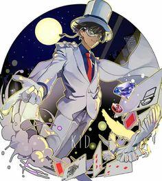 Magic Kaito, Detective Conan Shinichi, Detektif Conan, Kaito Kuroba, Detective Conan Wallpapers, Kaito Kid, Anime Drawings Sketches, Kudo Shinichi, Handsome Anime