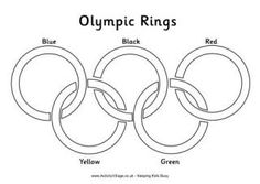 Olympic Rings Colouring Page - Labelled