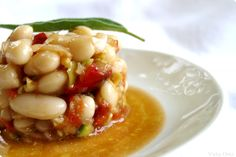 Ensalada de judías blancas Spanish Food, Black Eyed Peas, Risotto, Macaroni And Cheese, Salads, Beans, Yummy Food, Vegetables, Ethnic Recipes