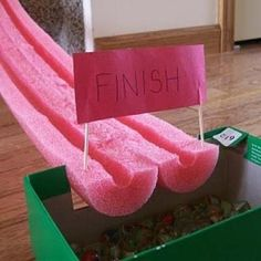Cut a pool noodle in half to make a marble race track. Read more at http://www.viralnova.com/cool-ideas-10-dollars/#Zs2PZQ7SALOIKOA3.99