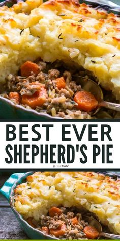 Shepherds pie recipe is comfort food that can't be beat! Made from Scra. - Gluten/Dairy-Free Cooking -Homemade Shepherds pie recipe is comfort food that can't be beat! Made from Scra. Healthy Beef Recipes, Easy Pie Recipes, Whole30 Beef Recipes, Easy Clean Eating Recipes, Crockpot Recipes, Shepherds Pie Rezept, Ground Beef Recipes For Dinner, Gluten Free Recipes Ground Beef, Ground Lamb Recipes