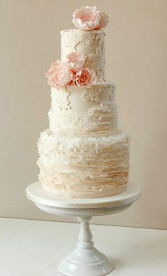 See a roundup of gorgeous Craftsy student projects, including this incredible ruffled wedding cake, on the Craftsy blog!