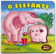 Livro Aperta e Apita - O Elefante - por The Clever Factory | As crianças vão se divertir com este livro sonoro enquanto apertam o bichinho que interage com a história!