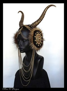 MADE TO ORDER Vegan Faux Horn Headdress by MissGDesignsShop, $285.00
