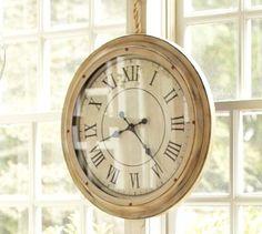 White Station Clock #potterybarn
