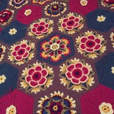 Frida's Flowers Blanket CAL 2016 ... Variation ...