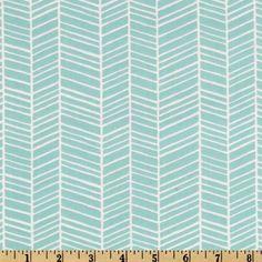Modern Herringbone in Pond Crib Sheet by DesignsbyChristyS on Etsy, $35.00