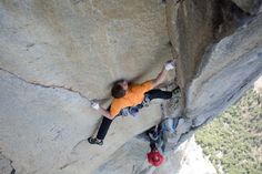 Tommy Caldwell in his favourite place...
