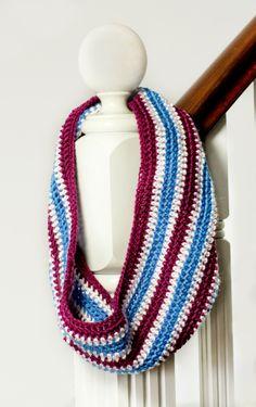 Basic Multi-Coloured Cowl Free Crochet Pattern