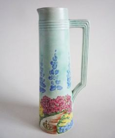 Early Radford 'Garden Pathway' Art Deco Jug c1935