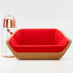 This sofa has been created out of cork