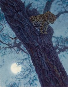 """Hunter by the Moon - John Banovich, Limited Edition Giclée Canvas Zawadi Edition: • 350 s/n plus 35 Artist Proofs • Canvas: 15"""" x 9"""" - $225 • Artist Proof: 15"""" x 9"""" - $265 • Frame (Artisan): 19.25"""" x 16.25"""" - $190 """"Capturing light is what an artist does. We use archaic tools, values and hues to trick the eye into seeing two dimensions in three. And when painting a night sky, all the colors and values are condensed, challenging the painter to crutch, on a very narrow depth of field. This was…"""
