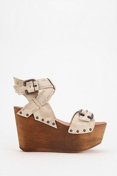 Joe's Jeans Bliss Wooden Platform Wedge