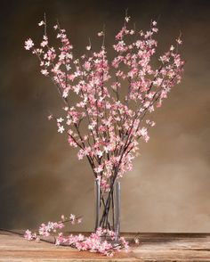 Cherry Blossom Silk Flower Stems for Casual Decorating at Silkflower.com