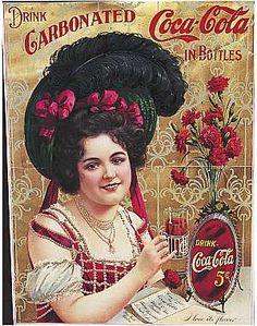 """Una pubblicità della Coca Cola del 1902. """"Coca cola ad from 1902""""  Recensito da: www.setadv.com"""