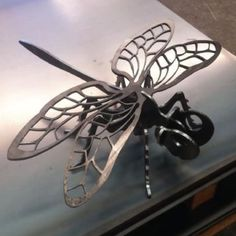Laser Cut Decorative Art Garden Sculpture  Dragonfly