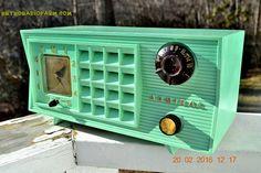 BLUETOOTH MP3 Ready - Admiral Model 251 955 AM Tube Radio Pistachio Green Retro Jetsons Mid Century Vintage Totally Restored!