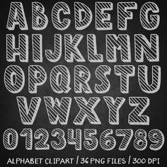 Chalkboard alphabet clipart by Patrycja Dolata on @creativemarket