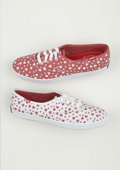 Keds Heart Print Champion. I actually really want some Keds.