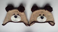 Gorro de oso tejido en dos agujas / Bear knitted hat
