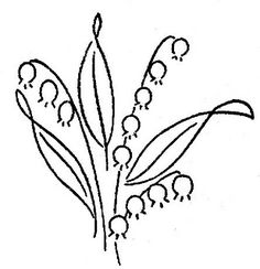 2-922 WB p | Flickr - Photo Sharing! Lilly of the valley embroidery pattern
