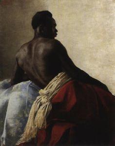 Karoly Csuzy, A Nubian Man. © 18xx. Oil on canvas.