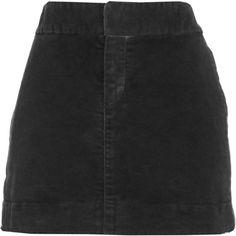 Nili Lotan Mini Skirt - Washed Black size 4 ($109) ❤ liked on Polyvore