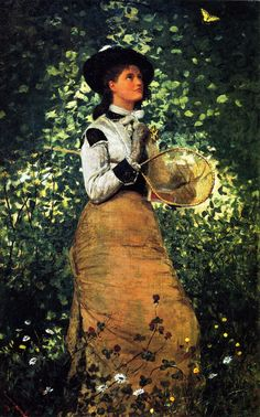 The Butterfly Girl (1878) - Winslow Homer - (American, 1836 - 1910)