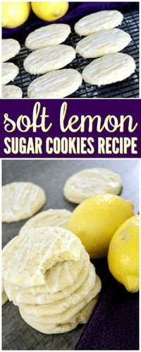Give this Soft Lemon Sugar Cookies Recipe Made from Scratch a try for your friends and family today! These are SOO good and perfect for Summer!
