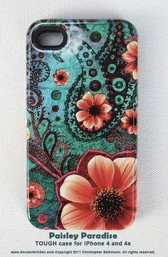 case for iPhone 4  iPhone 4s case  Paisley by ancientartizen, $39.95
