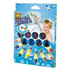 SES Aqua kleuren in bad Aqua, Presents For Kids, Never Grow Up, Xmas, Bath, Gifts, Color, Crayons, Colouring