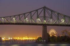 Jacques Cartier Bridge, Montreal, Quebec (La Ronde Amusement Park in background)