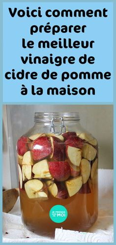 Here's how to make the best apple cider vinegar at home Best Apple Cider Vinegar, Health And Nutrition, Healthy Drinks, Chicken Recipes, Food And Drink, Fruit, Cooking, Breakfast, Desserts