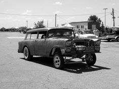 '56 Chevy wagon - rude & crude w/straight axle