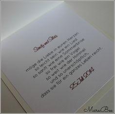 Schöner Spruch zur Hochzeit