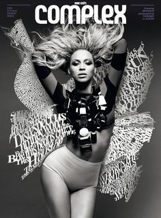 Love the type treatment on this Beyonce #magazine cover.