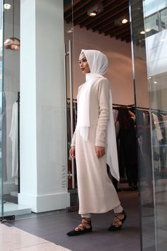 The outfit has been paired with our white maxi crepe Muslim Fashion, Modest Fashion, Hijab Fashion, Girl Fashion, Fashion Outfits, Modest Wear, Modest Outfits, Classy Outfits, Modest Clothing