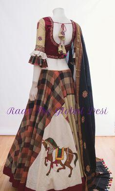 Half Saree Designs, Choli Designs, Sari Blouse Designs, Designer Blouse Patterns, Lehenga Designs, Indian Fashion Dresses, Indian Bridal Outfits, Indian Gowns Dresses, Dress Indian Style