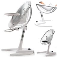 mima moon Silver highchair: luxury at it´s best