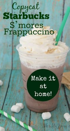The frozen drink will only be in stores a limited time, but with this Copycat Starbucks S'mores Frappuccino Recipe, you can continue to make it at home!