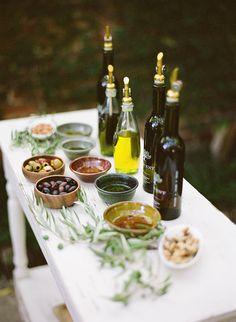 olive oil tasting. Wedding. JarradLister GardenShoot
