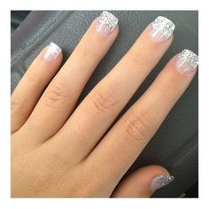 Glitter Nails ❤ liked on Polyvore featuring beauty products and nail care