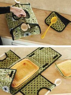 """Carry your favorite casserole or dessert in style with this insulated carrier with wooden spoon handles! Conveniently created to hold your favorite 9"""" x 13"""