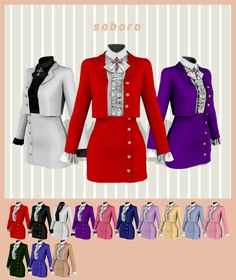 Sims 4 Mods Clothes, Sims 4 Clothing, Sims 4 Collections, Sims 4 Dresses, Sims 4 Mm Cc, Sims 4 Cas, Sims 4 Cc Finds, Dress With Cardigan, Sims 4 Custom Content