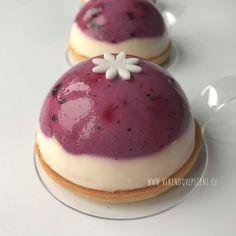 Borůvkovo-citronové dortíky Mini Cakes, Panna Cotta, Pudding, Cheesecake, Ethnic Recipes, Cupcakes, Desserts, Food, Pizza