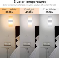 JACKYLED LED wall sconce is the newest version featuring 3 colors, 3000K, 4500K and 6500K. A perfect solution for those who want to pick the best light and control the interior lighting ambience.Color temperature changes every time you switch the light off and on from 3000k to 4500k to 6500k. #Jackyled # LEDwallsconce #Ledlight #indoorlighting #Indoorwallsconce Indoor Wall Sconces, Led Wall Lamp, Modern Wall Sconces, Wall Sconce Lighting, Interior Lighting, Modern Lighting, Hallway Lighting, Traditional Lighting, Color Temperature