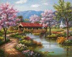 Image from http://framingpainting.com/UploadPic/Sung%20Kim/big/Covered%20Bridge%20in%20Spring.jpg.