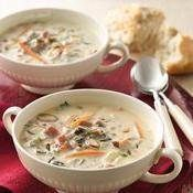 Slow-Cooker North Woods Wild Rice Soup recipe from Betty Crocker